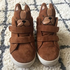 6 8 Old Navy Boy/'s Brown Sueded Doggie High Top Sneakers Size 11 NEW